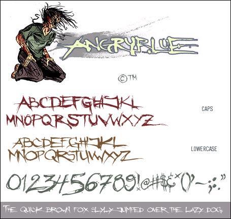 Anime шрифты для фотошоп