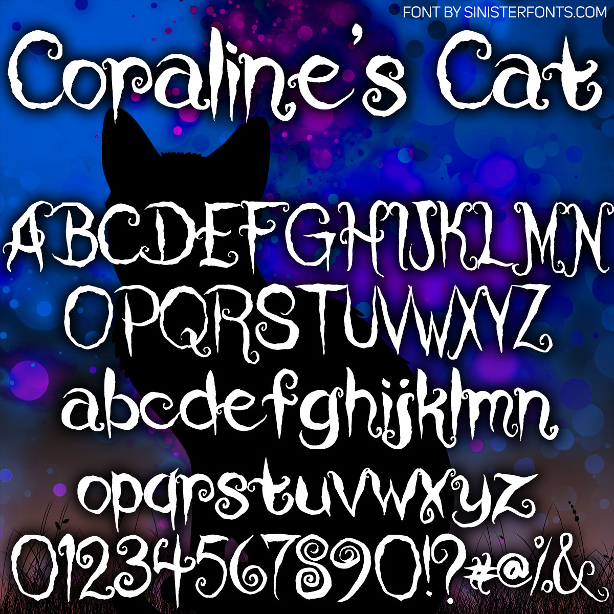 Coraline S Cat Font Free Download Freefontspro Com